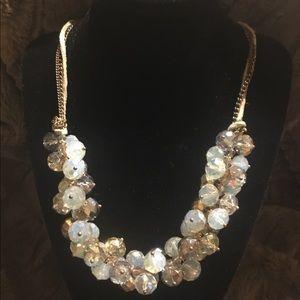 Crystal Aurora Borealis Ali Khan New York Necklace